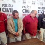 Suspeitos de roubos de carga de café são presos pela PC.