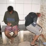 Autores de roubos são capturados pela PM em Carangola.