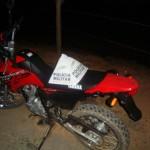 Policia Militar  Rodoviária de Carangola recupera moto roubada.