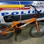 Policia Militar de Reduto recupera  bicicleta roubada.