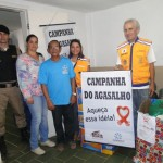 Policia Militar, CONSEP e Secretaria Municipal de Ação Social de Carangola realizaram a Campanha do Agasalho 2014.