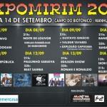Expomirim 2014 de 07 a 14 de setembro.