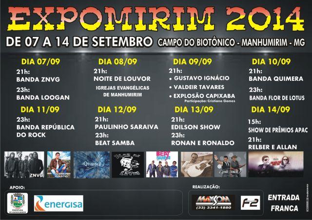 Cartaz Expomirim 2014
