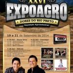 26ª Expoagro - Dores do Rio Preto 19 a 21 de Setembro.