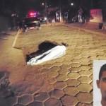 Homem é executado com 16 tiros dentro de carro.