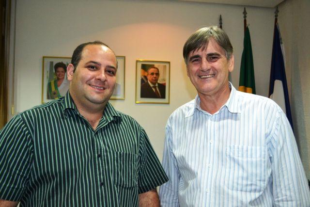 Kilder Perígolo foi recebido pelo prefeito Nailton Heringer