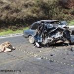Grave acidente na manhã de quinta(23) próximo a Fervedouro.