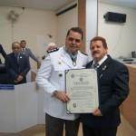 """""""Comandante do 47º BPM é homenageado na Câmara Municipal de Além Paraíba"""""""