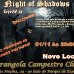 Festival Night of Shadows (Noite das Sombras) 01 de novembro.
