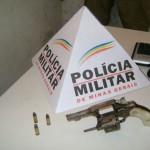 PM de Muriaé efetua prisão por porte ilegal de arma.