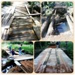 Secretaria de Obras de Carangola realiza manutenção de Ponte na Comunidade do Furriel.