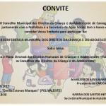 Convite: II Conferência Municipal de Direitos da Criança e Adolescente.