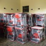 Escolas Municipais recebem mobiliário escolar.