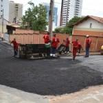 Manhuaçu - Novas ruas recebem pavimentação asfáltica.