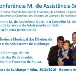 IV Conferência Municipal de Assistência Social - Luisburgo.