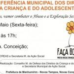 Manhumirim: Conferência da Criança e Adolescente será Sexta-feira.