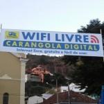 Projeto Internet gratuita nas principais praças da cidade de Carangola.