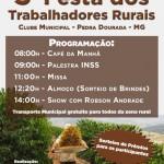 Festa dos Trabalhadores Rurais de Pedra Dourada acontece dia 26 de julho.