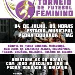 Campeonato de Futebol Feminino em Pedra Dourada.