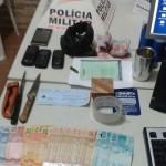 Polícia desmantela quadrilha que planejava assalto em Faria Lemos .
