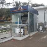 Caixa Eletrônico explodido em São Francisco do Gloria.