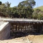 Mais uma ponte de concreto sendo concluída na Comunidade de Conceição.