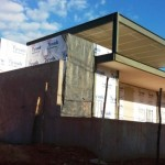 Unidade Básica de Saúde sendo construída na Varginha.