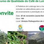 Premiação do II Concurso de  Qualidade dos Cafés de Luisburgo.