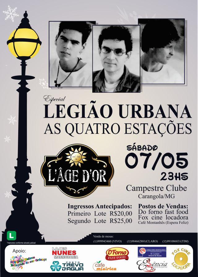 cartaz Legião Urbana Tributo