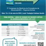 7ª Jornada Integração SOMITI e 3º Congresso de Medicina de Emergência da Abramede/MG - Regional Zona da Mata.