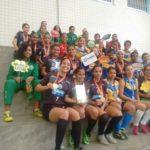 Futsal feminino de Manhuaçu é vice-campeã regional dos jogos de Minas.