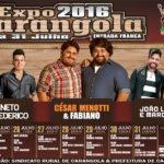 Expo Carangola 2016 de 24 a 31 de julho.