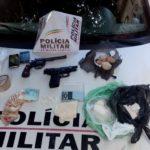 Apreensão de menor com drogas e armas em Carangola.