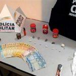 Miradouro: PC e PM apreendem drogas, dinheiro e adolescente suspeito por tráfico.