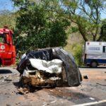 Batida entre Uno e Doblo deixa 3 mortos e um ferido na estrada Porciúncula-Natividade