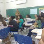 Instrrutor do PROERD realiza palestra para universitários da UEMG Carangola.