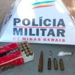 Homem é preso em Carangola por comercializar munições.