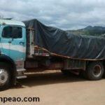PM de Orizania, Divino, Manhuaçu recuperam caminhão e 260 sacas de café produto de furto.