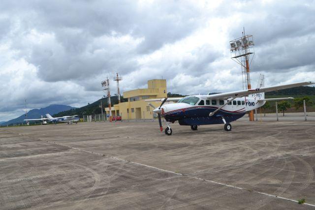 Movimento de passageiros em aeroporto de Manhuaçu é considerado satisfatório.
