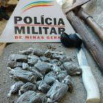 Policia Militar e Policia Civil  de Carangola em ação.