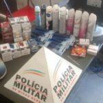 PM de Carangola prende autor e recupera produtos de furto.