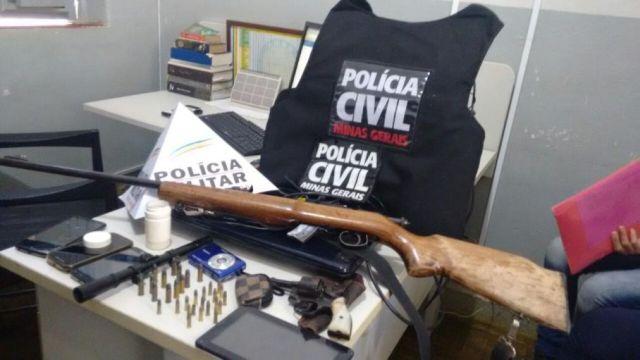 Operação conjunta realizada pelas Policias Militar e Civil em Tombos.