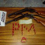Policia Militar apreende armas de fogo e munições em Divino.