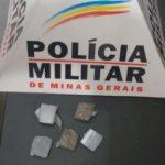 Policia Militar prende autor por tráfico de drogas.