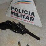 Policia Militar prende autores de porte ilegal de arma de fogo no Distrito de Ponte Alta em Carangola.