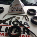 PM de Carangola prende autor de vários roubos na cidade.