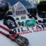 PM de Carangola prende suspeito da autoria de homicídio o qual portava arma de fogo, munições e drogas para o tráfico.