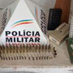 PM de Carangola prende suspeito de receptar materiais furtados e que possui dezenas de munições de diversos calibres.