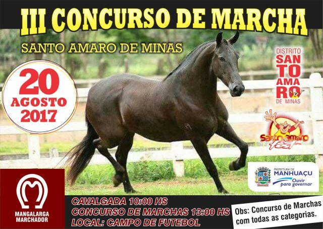 3º Concurso de Marcha e Encontro de Cavaleiros em Santo Amaro será domingo.