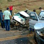 Grave acidente na rodovia entre Fervedouro e Carangola.